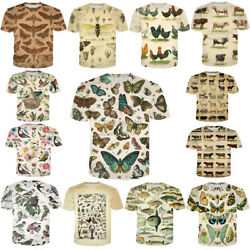New Novelty animals 3D Print Fashion Mens Womens Short Sleeve T Shirt Tops 7XL $12.34