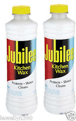2 Bottles of Jubilee Kitchen Wax  Protects shines and cleans