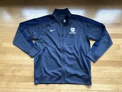 EUC Nike Butler Bulldogs Embroidered Full Zip Warm Up Blue Gray Track Jacket L
