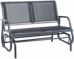 Superjare Outdoor Swing Glider Chair Patio Bench for 2 Person Garden Loveseat