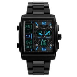 Military Men Fashion Quartz Digital Waterproof Analog Date Sport Square Watch US $17.91