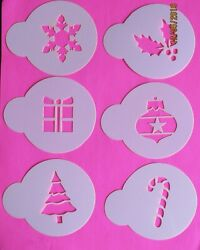 Christmas Holiday Cupcake Cookie Stencil Top 12 Piece Airbrush Decorating Tool $10.99
