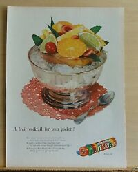 1947 magazine ad for Life Savers Candies A fruit cocktail for your pocket $4.95