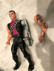 Vtg 1991 Kenner Carolco Terminator Figure - 2 Interchangeable Arms Pop Off !