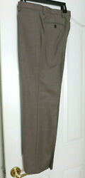 Banana Republic Tailored Slim Fit 32x30 100% Wool Pants Camel Brown  New