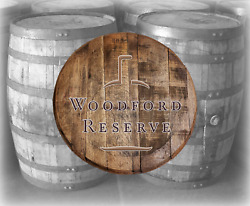 Rustic Home Bar Decor Woodford Reserve Bourbon Whiskey Barrel Lid wood wall art $89.90