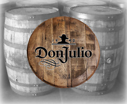 Rustic Home Bar Decor Don Julio Tequila Barrel Lid wood Wall Art Accessories $89.90