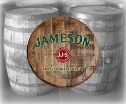 Rustic Home Bar Decor Jameson Irish Whiskey Barrel Lid wood wall art $89.90