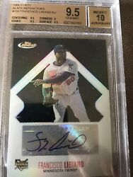2006 Topps Finest Francisco Liriano Signed Beckett 10 Black Refractor Auto