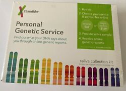 Personal Genetic DNA Collection Kit For Ancestry Health 23 and Me NEW