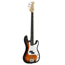 Full Scale Electric Bass Guitar With Gig Bag and Heavy Duty Guitar Strap