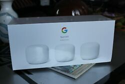 Brand New - Google Nest Wifi Router and 2 Points - Snow (3 pack) - Sealed