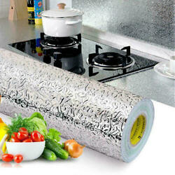 Self Adhesive Aluminum Foil Kitchen Cabinet Wall Sticker Wallpaper Oil-proof USA $11.95