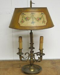 French Bouillotte lamp brass Lamp Needs Wiring Antique brass Lamp $467.50
