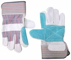 Work Gloves with Double Leather Palm and Safety Cuff 12 Pairs $29.50