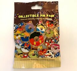 NEW DISNEY MICKEY amp; FRIENDS DONUT COLLECTIBLE MYSTERY 5 PIN PACK $12.99