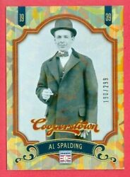 2012 PANINI COOPERSTOWN BB Al Spalding SP CRYSTAL COL FOIL CARD #15 #d 190 299 $2.49