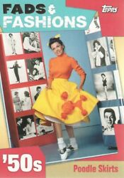 2011 Topps American Pie Trading Cards Fads and Fashions #FF7 Poodle Skirts $3.00