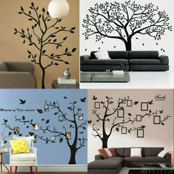 Black Family Tree Stickers Wall Sticker Removable DIY Art Home Decor Vinyl Mural $9.77