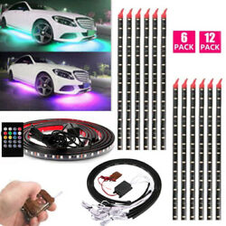 Waterproof 8 Color LED Strip Under Car Underglow Underbody Lights amp; Remote