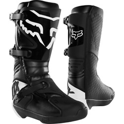 Fox MX COMP BOOT BUCKLE BLACK WHITE Free shipping $199.99