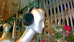 Beautiful Mink Fur Earmuffs Warm Stylish Youthful Custom Made in USA New $175 $89.99