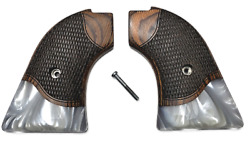 quot;Silveradoquot; Heritage Arms Rough Rider 6 amp; 9 Shot Grips Rosewood Mother of Pearl $39.95