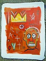 Guaranteed Jean-Michel Basquiat rare original 1980 souvenir Graffiti painting
