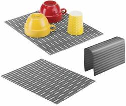 Mdesign Large Kitchen Sink Protector Mat Pad Set Quick Draining Use In Sinks $24.99