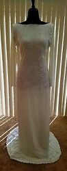 Hollywood Glam Crushed Velvet Backless Sheath Mermaid Dress Bridal Wedding Gown