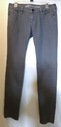 Hermosa Bullhead Super Skinny Jeans Women#x27;s 9 Long Low Rise Taupe Gray Brown