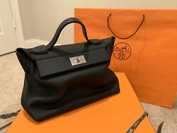 Rare Hermes 2424 Size 35 Slouch Kelly Bag!! Brand New and Guaranteed Genuine!!
