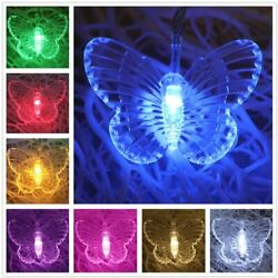 Butterfly LED String Lights Wedding Children Room Curtain Lamp Colorful Decor $11.99