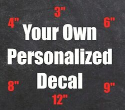 Custom Personalized Stickers Vinyl Decals Car Window Lettering Business Cup Name $6.18