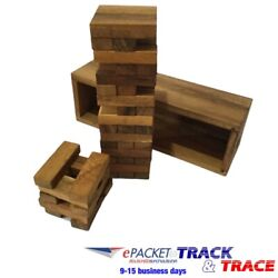 Tumble Tower Game Stacking Tumbling Board 54 pieces Wood Block Games M Size $39.87