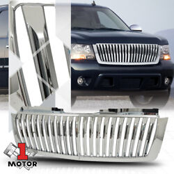Fits 2007-2014 Tahoe/Avalanche/Suburban {VERTICAL-BAR} Glossy Chrome ABS Grille $63.99
