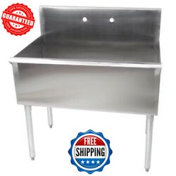 36quot; Commercial Kitchen Utility Sink Stainless Steel 36quot; X 24quot; X 14quot; Bowl 16Gauge