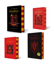 NEW Harry Potter Gryffindor Edition 4 Hardcover Books Set - Philosopher Chamber