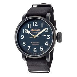 Ingersoll Men#x27;s Linden I04806 46mm Black Dial Nylon Automatic Watch $95.73