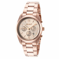 Ingersoll Women#x27;s Universal I05402 35mm Gray Dial Stainless Steel Chrono Watch $53.18