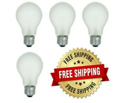 Incandescent Light Bulbs 100 Watt 75 Watt 60 Watt 40 Watt A19 E26 Base - 4 Bulbs $10.99