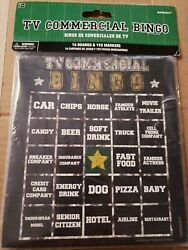 Football Sports Themed TV Commercial Bingo Game 16 boards & 192 marker stickers $7.00