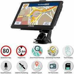 Semi Truck Gps Commercial.Driver Big Rig Accessories Navigation System Trucker $79.99