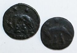 2 Coin Lot Ancient Rome Bronze Two Stars She Wolf Twins Coins You Grade