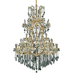 ASFOUR CRYSTAL CHANDELIER MARIA THERESA QUALITY GOLD FOYER LIGHTING 61 LIGHT 72