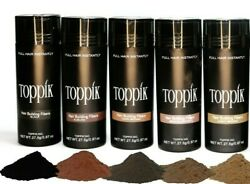 Dark Brown Medium Brown or Black 27.5g Unopened Toppik Hair Building Fiber  $10.95