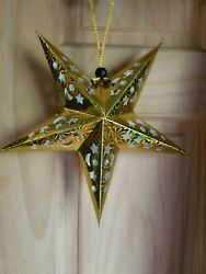 Gold Holographic Paper star lanterns 11quot; 5 point 20 count $12.00