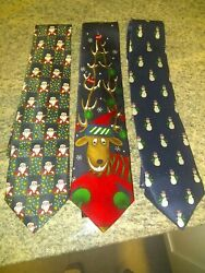 Christmas Novelty Silk Lot Of 3 58quot; $16.00