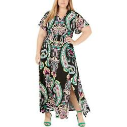INC Womens Paisley Smocked Party Maxi Dress Plus BHFO 3217 $10.07