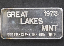 1973 Commercial Silver Art Bar GLM-1 Great Lakes Mint P1100 $117.00